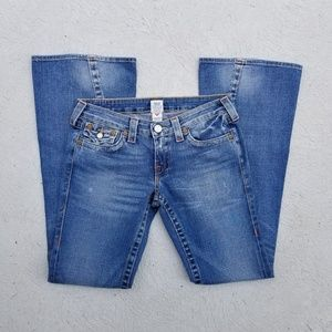 True Religion Joey low rise wide legs denim 29